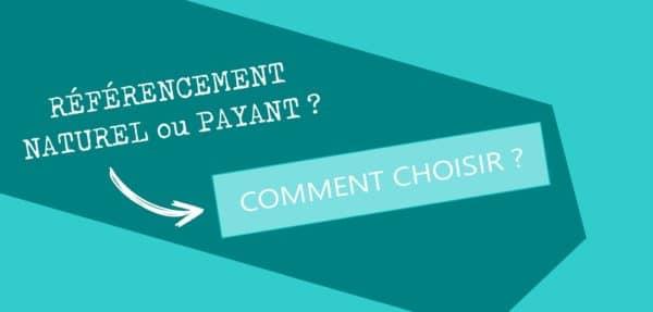 Choix entre référencement payant ou gratuit