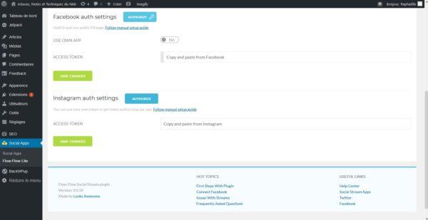 Plugin Flow-Flow pour site WordPress