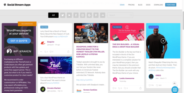 extension Flow-Flow pour Social Wall sur WordPress